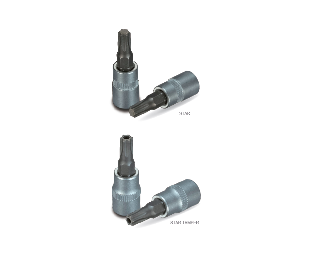 STAR AND STAR TAMPER BIT SOCKETS